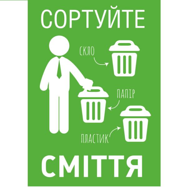 наклейка сортировка мусора
